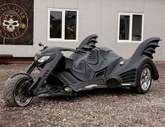 A custom batman trike