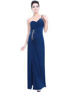 evening dress | ... Sheath/ Column Natural Waist With Beading Floor Length Evening Dress
