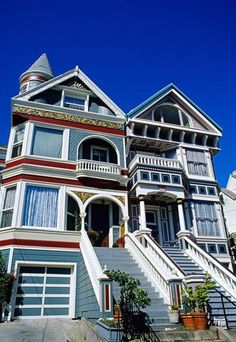"""Pacific Heights, San Francisco  For many visitors, San Francisco is synonymous with the Hollywood-ready """"Painted Ladies"""" — by definition a Victorian wood home gussied up with at least three paint colours — and this hilltop neighbourhood has the city's highest concentration. A walking tour of the privileged district also guarantees gorgeous panoramas of the Golden Gate Bridge, Alcatraz and the bay. (Courtesy Hemis/Alamy) __"""