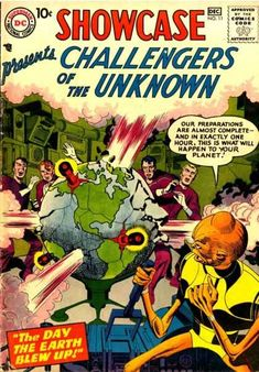 SHOWCASE 11 CHALLENGERS OF THE UNKNOWN SILVER AGE DC COMICS