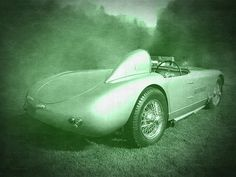 """""""Allard Sports Car"""" Fine art photograph by Dilectus Rex. This is a cool gray, moody vignette of a classic 1955 Allard sports car. These low production high performance street/race cars originated in England but usually had big V8 engines from US manufacturers. #dilectusrex"""