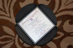 Petal Fold Baby Shower Invitation - Lafayette Indiana