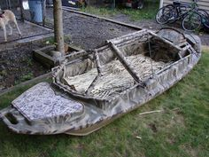 Okay, so the only hunting I've ever done is bargain hunting, but this seems silly to me. Do someone really think the fish won't know they're there just because the boat is a type of camo? Stealth 2000 Boat Layout Style.