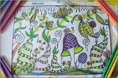 doodle painting magischer Zaubergarten   http://dekoretti.blogspot.de/2016/10/ein-magischer-zaubergarten.html