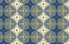 Printable Paper Bead Sheet Blue Floral Set par PassionForPaperBeads
