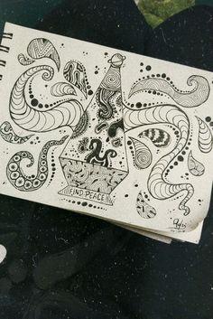 Trippy doodles drawing draw findpeace art advice in Psychedelic Drawings, Trippy Drawings, Art Drawings Sketches, Doodle Drawings, Colorful Drawings, Cartoon Drawings, Doodle Art, Hippie Drawing, Hippie Art
