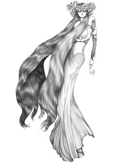 FLORENCE - illustration by Laura Laine, Givenchy