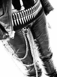 dark gothic metal fashion