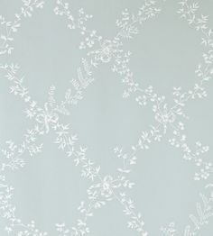 Toile Trellis Wallpaper by Farrow & Ball | Jane Clayton Pavilion Blue