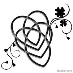 Celtic motherhood knot tattoo with flowers
