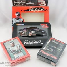 Racing-nascar Fan Apparel & Souvenirs Brand New Dale Earnhardt #3 Playing Cards Set Of 2 In Collector Tin 2000 Season Sale Price