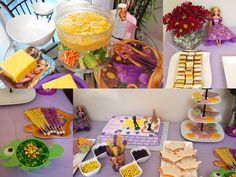 Elise's 3rd birthday - Tangled birthday party dessert and food table     http://eliseliana62809.blogspot.com/2012/07/elises-third-birthday-tangled-birthday.html