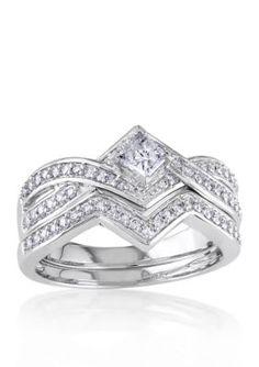 Belk  Co. White Gold 58 ct. t.w. Diamond Bridal Ring Set in 14k White Gold