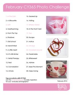 February CY365 Photo Challenge List 2014