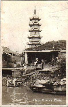 China Country Views - Real photo postcard