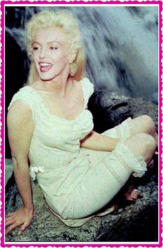 """Marilyn on the set of """"River of No Return"""" ~ 1953"""