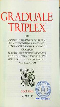 Graduale Triplex.