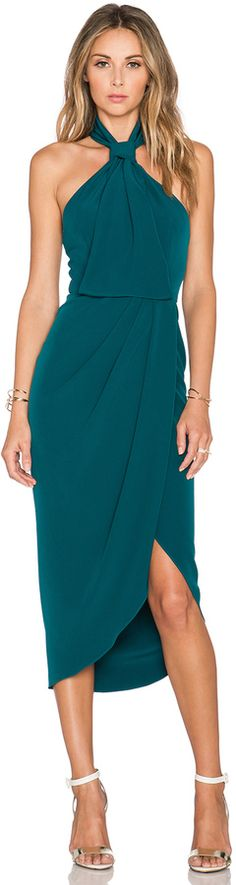 Shona Joy The Pass Knot Draped Dress