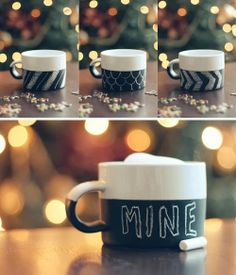 Miss Lacraft: Mugs decorated with paint (musgtomizar)