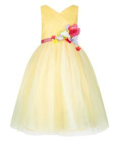 Картинки по запросу monsoon girls dress flower corsage on belt