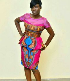 The Angelina African print dashiki dress - PRODUCT DESCRIPTION  For the woman who loves dashiki like every woman should. It is made from choice