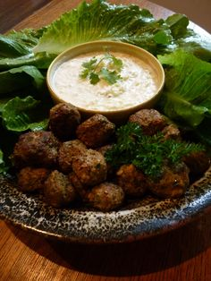 Greek Meatballs & Tzatziki