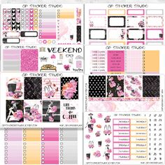 COFFEE JUNKIE COLLECTION Planner Sticker Kit for your Erin Condren Vertical, Happy Planner, Kate Spade, Filofax, Kikki K and More by GPStickerStudio on Etsy https://www.etsy.com/listing/485228009/coffee-junkie-collection-planner-sticker