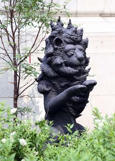 The lion sculpture by Andrea Keys Connell, in the Eastman Reading Garden for the Cleveland Public Library, on June (Chuck Crow/The Plain Dealer) Reading Garden, Cleveland Art, Garden Sculpture, Lion Sculpture, Summer Photos, Crow, Keys, Virginia, Sculptures