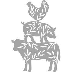 Original hand drawn design from Wild Pilot. Silhouette Projects, Silhouette Design, Chicken And Cow, Animal Silhouette, Neutral, Cricut Creations, Vinyl Projects, Bumper Stickers, Farm Animals