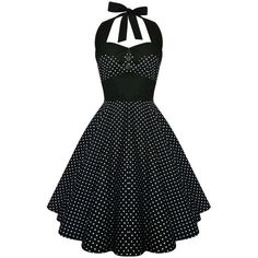 Lady Mayra Ashley Polka Dot Dress Vintage Rockabilly Pin Up 1950s... ($50) ❤ liked on Polyvore #plussizepartyoutfit