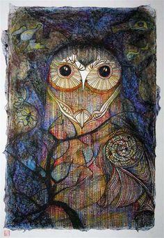 John Bevan Ford-Ruru In The Pacific Bush (Morepork-NZ owl)
