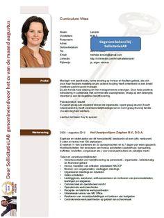 Opvallend CV met een zakelijke uitstraling. Dit CV is ook als