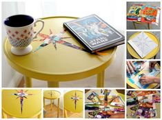 Side Table Comic Book Decoupage | Ways To Transform Your Old Furniture