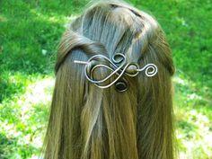 Hair Brooch, Hair Sticks, Hair Barrettes, Hair Clip, Hair Accessories, Barrette, Stick, Hair Slide, Hair Pin, Hammered Copper on Etsy, $18.50