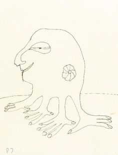 Lend A Hand An untitled illustration of a four-handed creature by John Lennon. Estimate: $7,000-9,000.