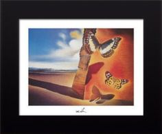Salvador Dali Paysage aux papillons (Landscape with Butterflies) painting is shipped worldwide,including stretched canvas and framed art.This Salvador Dali Paysage aux papillons (Landscape with Butterflies) painting is available at custom size. Salvador Dali Gemälde, Salvador Dali Paintings, Butterfly Painting, Butterfly Art, Butterflies, Art Papillon, Art Visionnaire, Photo Print, Poster Prints