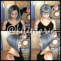Edgy Short Haircuts, Short Bob Hairstyles, Hairstyles Haircuts, Cool Hairstyles, Short Blue Hair, Betty Bangs, Cabello Hair, Estilo Pin Up, Bob Haircut With Bangs