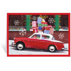 Car Loaded with Gifts Holiday Cards