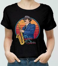 82f0147c1 (Sponsored)eBay - Duke Silver Parks And Recreation Ron Swanson Black TShirt  M-