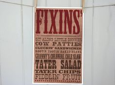 Hey, I found this really awesome Etsy listing at https://www.etsy.com/listing/157289302/western-party-food-or-buffet-sign