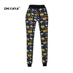 CMYAYA 2016 New Casual Black Print Cartoons Letters Men/Women/Girl/Boys Enjoy 50% Discount Jogger Pant at our web shop http://www.aliexpress.com/store/536244