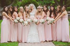 Bridesmaid looks we love. Maggie Bride wore Adalee by Maggie Sottero, our wedding dress with fitted embellished bodice, sweetheart neck and voluminous tulle skirt   Renee Brown Photography