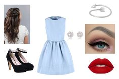 """""""Cutie"""" by sweatpants4life ❤ liked on Polyvore featuring RED Valentino, Lime Crime and River Island"""