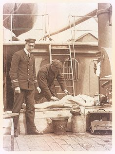 Embalming on the Mackay-Bennett rescue ship #24  The so-called death ship retrieved bodies from the sea ( people lost in the Titanic) and brought them back to Halifax.
