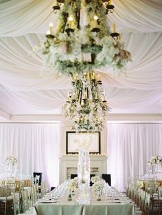 Soft Floral Strewn Chandeliers at this Pink and Gold Inspired Southern Wedding. Event by Spencer Special Events, S. Luxury Wedding, Elegant Wedding, Floral Wedding, Wedding Colors, Our Wedding, Dream Wedding, Wedding Events, Wedding Reception, Wedding Table Centerpieces