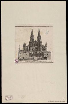 Fachada principal de la Catedral de Burgos. Anónimo español s. XVIII — Grabado — 1783