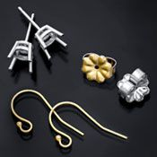 Gold earring settings, components and wires from Rio Grande Jewelry Supply