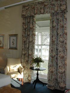 Display of curtains