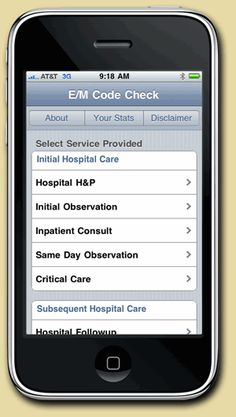 Medical coding on your iPhone with E/M                             Code Check