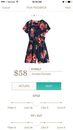 Perfect spring romper. Join stitch fix and have your own personal stylist send you great items straight to your front door. #stitchfix